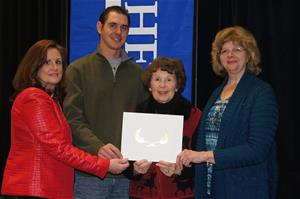Darlene Miller is pictured here with (from left) her daughter, Kim Dolan; grandson, Joe Elam; and at