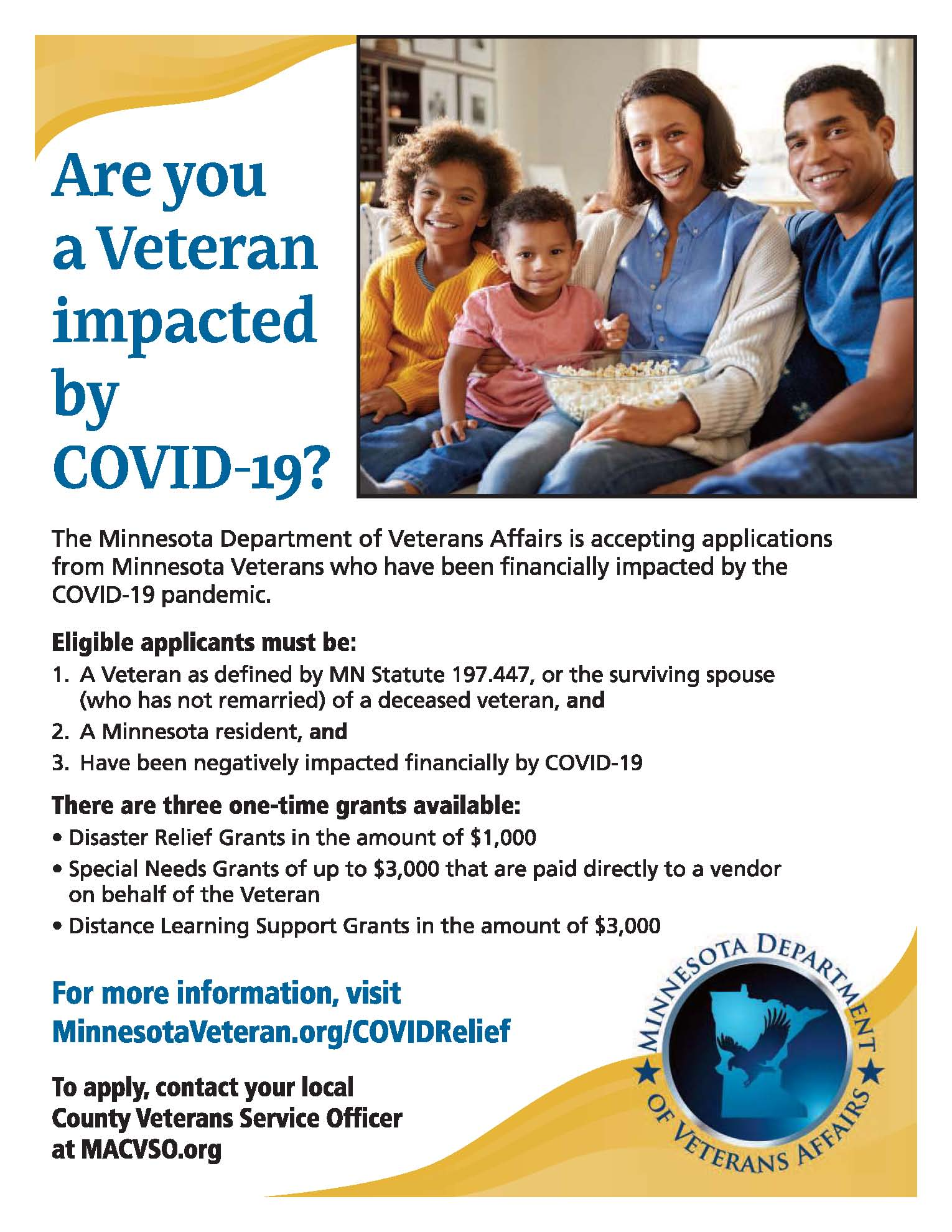 Veteran impact by COVID-19 newsletter