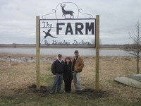 Darlene Miller is pictured here at The Farm with two of her grandsons, Nathan (left) and Joe (right) Elam.